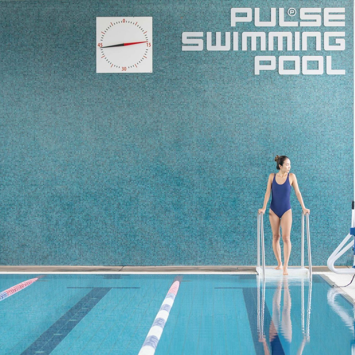 Pulse swimming pool photo links to the fitness centre pages.